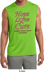Breast Cancer Awareness Hope Love Cure Dry Wicking Sleeveless Shirt