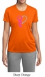Breast Cancer Awareness Ladies Shirt Ribbon Heart Moisture Wicking Tee