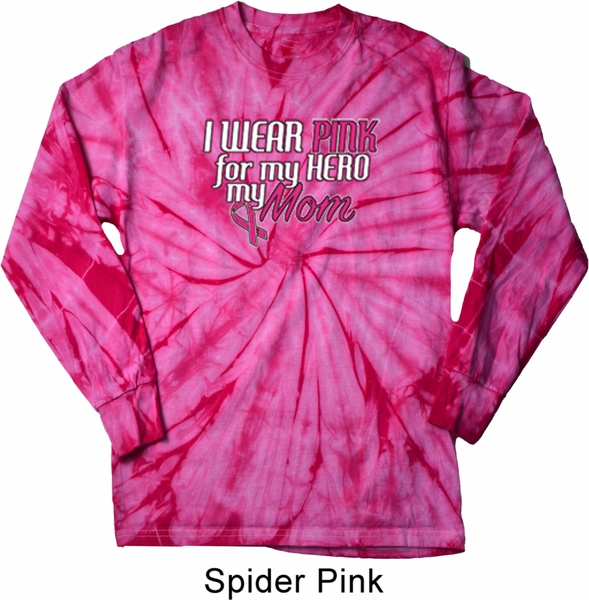Breast Cancer Awareness Pink For My Hero Long Sleeve Tie