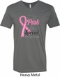 Breast Cancer Awareness Pink For Someone Special Mens V-Neck Shirt