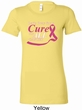 Breast Cancer Awareness Pray for a Cure Ladies Longer Length Shirt
