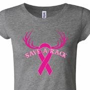 Breast Cancer Awareness Save a Rack Ladies Shirts