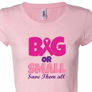 Breast Cancer Awareness Save Them All Ladies Shirts