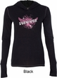 Breast Cancer Awareness Survivor Wings Ladies Tri Blend Hoodie Shirt