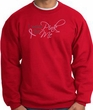 Breast Cancer Awareness Sweatshirt - I Wear Pink For Me Adult Red