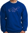 Breast Cancer Awareness Sweatshirt - I Wear Pink For Me Adult Royal