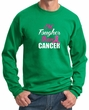 Breast Cancer Awareness Sweatshirt Tougher Than Cancer Sweat Shirt