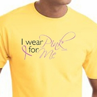 Breast Cancer Awareness T-shirts - I Wear Pink For Me Ribbon