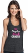Breast Cancer Awareness Tanktop Tougher Than Cancer T-Back Tank Top