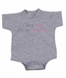 Breast Cancer Baby Rompers - I Wear Pink For My Mommy Heather Grey