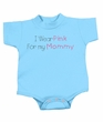 Breast Cancer Baby Rompers - I Wear Pink For My Mommy Light Blue