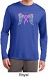 Breast Cancer Heaven Can Wait Mens Dry Wicking Long Sleeve Shirt