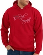 Breast Cancer Hoodie Hooded Sweatshirt Pink For My Daughter Red Hoody