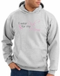 Breast Cancer Hoodie I Wear Pink For My Mom Hoody Ash