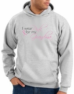 Breast Cancer Hoodie Sweatshirt I Wear Pink For My Grandma Ash Hoody