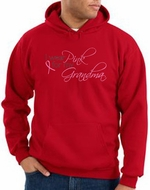 Breast Cancer Hoodie Sweatshirt I Wear Pink For My Grandma Red Hoody