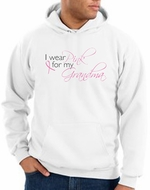 Breast Cancer Hoodie Sweatshirt I Wear Pink For My Grandma White Hoody