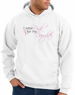 Breast Cancer Hoodies Hooded Sweatshirts Wear Pink For My Daughter