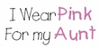 Breast Cancer Kids Long Sleeve T-shirt - I Wear Pink For My Aunt Grey