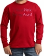 Breast Cancer Kids Long Sleeve T-shirt - I Wear Pink For My Aunt Red