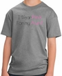 Breast Cancer Kids T-shirt Ribbon I Wear Pink For My Aunt Grey Tee