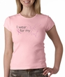 Breast Cancer Ladies Shirt Crewneck I Wear Pink For My Aunt Pink