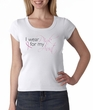 Breast Cancer Ladies Shirt Scoop Neck I Wear Pink For My Aunt White