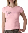 Breast Cancer Ladies T-shirt Crewneck I Wear Pink For Me Pink Tee