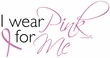 Breast Cancer Ladies T-shirt Crewneck I Wear Pink For Me White Tee