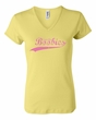 Breast Cancer Ladies T-shirt V-neck Save The Boobies Yellow Tee