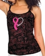 Breast Cancer Ladies Tanktop Ribbon Heart Tie Dye Camisole Tank Top