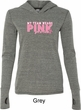 Breast Cancer My Team Wears Pink Ladies Tri Blend Hoodie Shirt