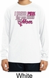 Breast Cancer Pink for My Hero Kids Dry Wicking Long Sleeve Shirt