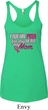 Breast Cancer Pink for My Hero Ladies Tri Blend Racerback Tank Top