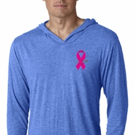 Breast Cancer Pink Ribbon Pin Pocket Print Lightweight Hoodie Shirt