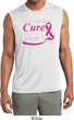 Breast Cancer Pray for a Cure Mens Sleeveless Moisture Wicking Shirt