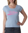 Breast Cancer Shirt Scoop Neck Save The Boobies Baby Blue Tee