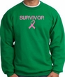 Breast Cancer Sweatshirt - Ribbon Survivor Kelly Green Sweat Shirt