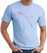 Breast Cancer T-shirt I Wear Pink For My Grandma Light Blue Tee