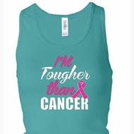 Breast Cancer Tanktop Tougher Than Cancer Longer Length Racerback Tank