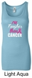 Breast Cancer Tanktop Tougher Than Cancer Longer Length Tank Top