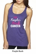 Breast Cancer Tanktop Tougher Than Cancer Tri Blend Racerback Tank