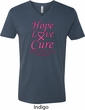 Breast Cancer Tee Hope Love Cure V-neck
