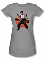 Bruce Lee Juniors T-shirt Meaning Of Life Gray