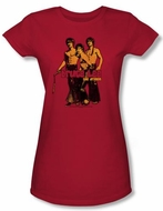Bruce Lee Juniors T-shirt Nunchucks Red