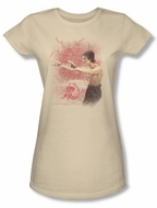 Bruce Lee Juniors T-shirt Power Of The Dragon Cream