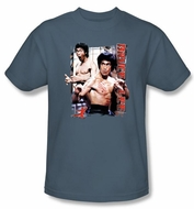 Bruce Lee Kids T-shirt Youth Enter Slate Blue
