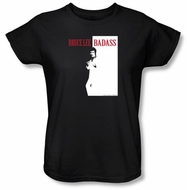 Bruce Lee Ladies T-shirt Badass Black