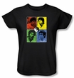 Bruce Lee Ladies T-shirt Enter Color Block Black