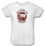 Bruce Lee Ladies T-shirt Jeet Kune Do Kung Fu Academy White
